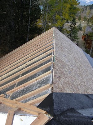 Roof Insulation Panels Installation RAYCORE SIPs - Palmer Cabin