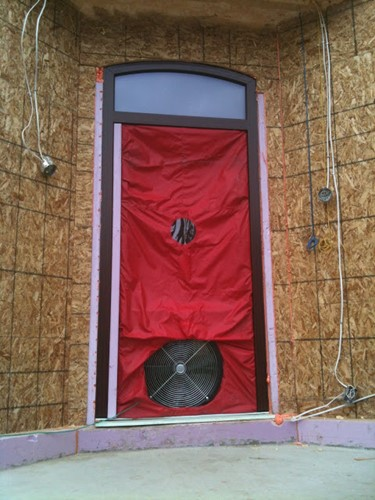 RAYCORE SIPs Blower Door Test Canada Passive House