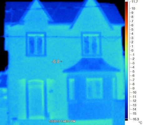 RAY-CORE SIPs Thermal Imaging of Passive House in Canada